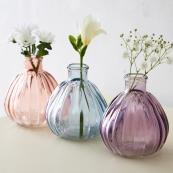 Trio of small pastel glass vases, £8.95 each, at Live Laugh Love