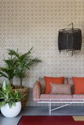 Mura wall covering is applied like normal wallpaper. It has the feel of a fabric and offers an acoustic helping hand
