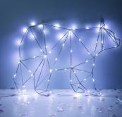Christmas Polar Bear Silhouette - wire frame with 600 micro LEDs. 34x50cm. Requires 3xAA batteries. Fun if you have the space for it. £15.99 at www.lights4fun.co.uk