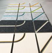 Splice tiles have a straight or curved line groove for making funky patterns