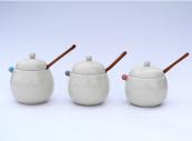 Poko Poko ceramic sugar bowls by Namiko Murakoshi