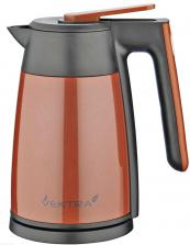 Vektra vacuum kettle will keep water hot for up to four hours after boiling. Around £80. www.vektra.uk