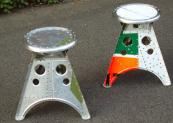 The stools are all made using solid, not blind rivets. www.aero-1946.com