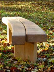 Sculptural Flow green oak bench by Shropshire-based Chris Nangle, £690 . www.chrisnanglefurniture.co.uk