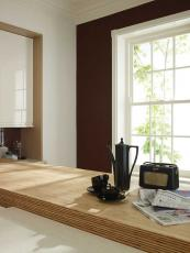 Bamboo worktop is the Remo kitchen from Second Nature