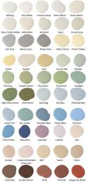 Colour chart from Pots of Paint
