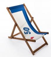 Deckchair seat made from old sail cloth by Quba. £150 www.quba.com