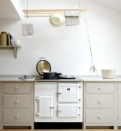 Esse CAT gas-powered cast iron range in a kitchen by deVOL. From £5,458