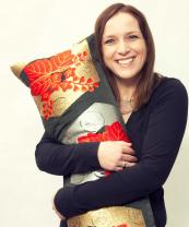 Ellie Laycock is finding that people love her kimono cushions. www.huntedandstuffed.com
