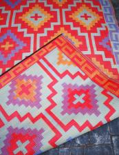 Reversible recycled outdoor rugs by US brand Fab Habitat, available in the UK at Cuckooland