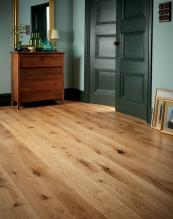 Fired Earth's Woodland oak floor, solid or engineered, PEFC-cert, from £69.95. firedearth.com