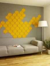 Flock felt self-adhesive tiles for walls, £26 for six, www.notonthehighstreet.com