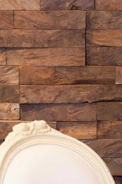 Magnificent reclaimed teak wall mosaic by the UK's Indigenous
