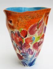 Exuberant Love ceramic vase, H44cms, by Ingrid Saag. www.ingridsaag.com