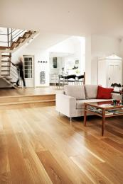 Junckers' solid oak wide boards, FSC/PEFC-cert, £84m2, www.junckers.co.uk