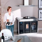 Klover's SMART 120 uses wood pellets and cooks, heats water and radiators. From £6,353. www.stovesonline.co.uk