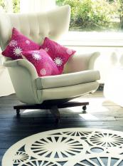 Cut-out felt rug by Michelle Mason, dia 120cms, £350. www.michellemason.co.uk