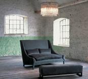 De luxe Snooze sofa in nubuck and velvet by Ochre, £6,972 and ottoman, £2,040. www.ochre.net