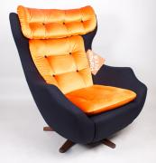 Parker Knoll Statesman chair upcycled by Jay & Co, formerly Out Of The Dark, £600. www.jayand.co