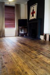 Hand sanded Victorian pine floor, from £65m2, www.reclaimedflooringco.com