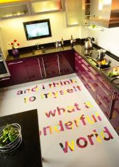 Typography floor - printed by Floorink on Forbo vinyl. www.floorink.com