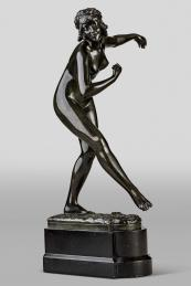 Bronze nude by Paul Philippe, Solo Antiques dealer