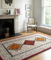 Geometric patterns adorn this shyrdak felt rug from www.feltrugs.co.uk. Prices from £280