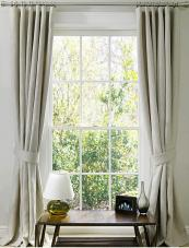 Tie-backs give a smart look to curtains.