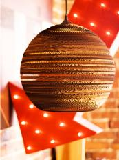 Moon Scraplight, made from cardboard by Graypants, dis 26/36/45, from £159, www.carolinemcgrath.co.uk