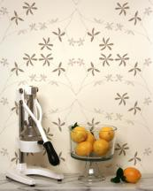 Los Angeles' based Madison & Grow wallpaper is compostable. The paper is coated with clay and the designs are hand screen printed. www.madisonandgrow.com
