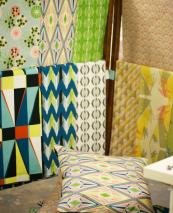 Annabel Perrin textiles are bright and often have geometric patterns. www.annabelperrin.com