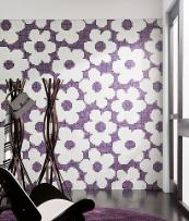 Feel wallpaper from Italian brand Trend is made from tiny squares of mosaic glass, some of which is recycled glass.