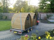 Armadilla is based in Midlothian. Its garden pods will arrive on a trailer. www.armadilla.co.uk