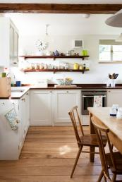 The Luxtons own kitchen is made from wood