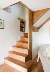 The Luxtons have a wooden staircase