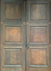 These huge oak doors at the Royal College of General Practitioners before restoration