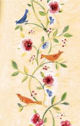 Hand-painted artwork. Susan Collier was a self-taught artist and textile designer
