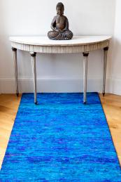 Reprise carpet runner made from recycled sari silk, from £696m2. www.topfloorrugs.com