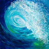 Feel the force... Kem Lika says she paints a welcoming ocean, not a dark and scary one