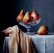 A beautiful still life - Blush Pears by Lucy McKie