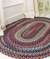Wool woven Williamsburg rug, various sizes available, from The Braided Rug Company. 5x8' rug £520