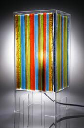 Glass table lamp by Brett Manley. www.brettmanley.co.uk