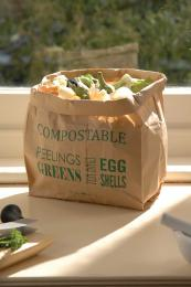 If you don't want a container, dump your peelings in these compostable paper bags from Burgon & Ball