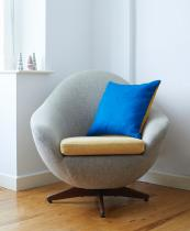 Bute wool cushions from Lane By Post come in fabulous two tone colours such as Ionian Sea Blue and Mustard Yellow, £65