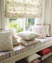 A delicate floral blind for a summery room
