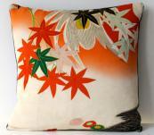 Kimono silk cushion by Becca Cadbury. www.etsy.com/uk/shop/BeccaCadburyDesign