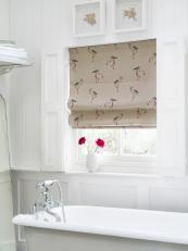 British textile firm Clarke & Clarke has a charming flamingo linen print in the Fougeres collection, £19 per m, 137cm width. www.clarke-clarke.com