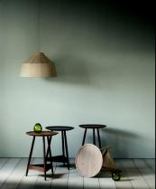 Clyde side table by Pinch Design, American walnut and oak top