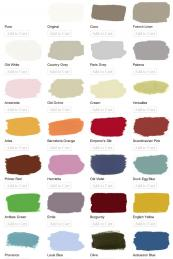 Colour chart. Colours are intended to be combined to make new colours