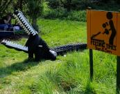 Bilek's Croc playground apparatus is made from tractor tyres